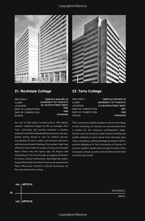 Concrete Toronto A Guide To Concrete Architecture From The Fifties To The Seventies