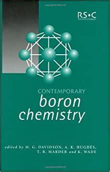 Surprising Contemporary Boron Chemistry Wade Ken Davidson Matthew G Marder T B Wiring 101 Capemaxxcnl