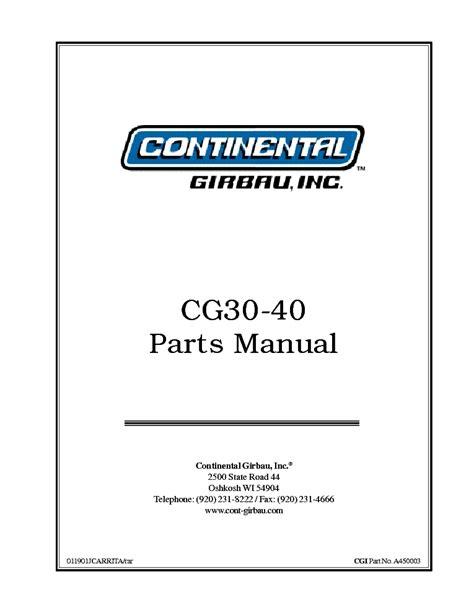 Continental Girbau Parts Manual (ePUB/PDF) Free