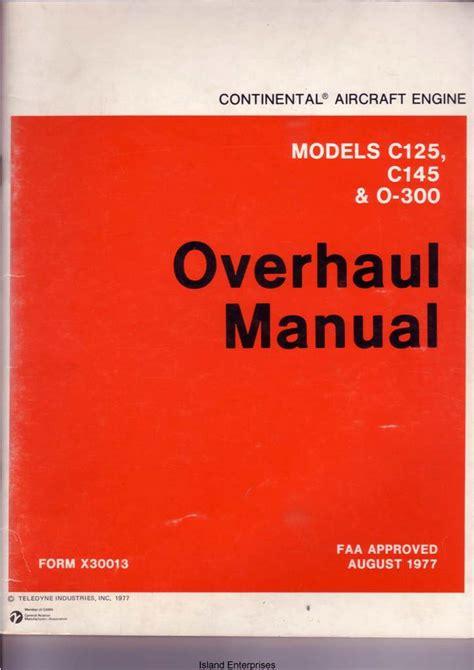 Continental O 300 Engine Manual (ePUB/PDF) Free
