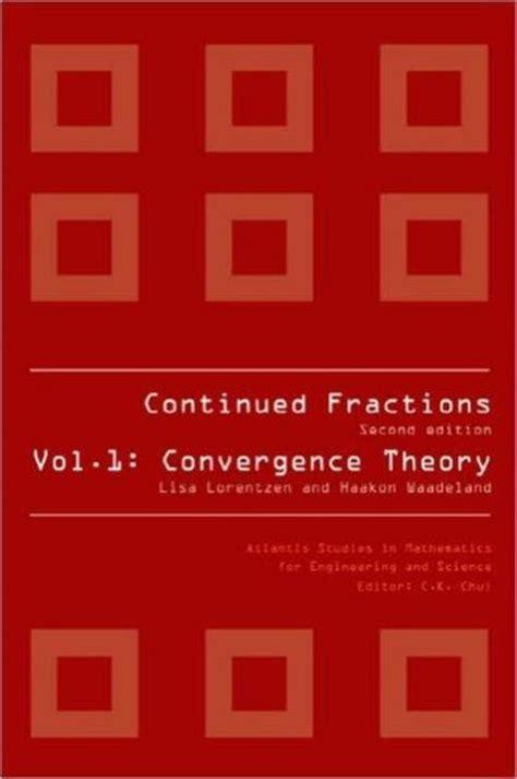 Continued Fractions Lorentzen Lisa Waadel And Haakon (ePUB/PDF)