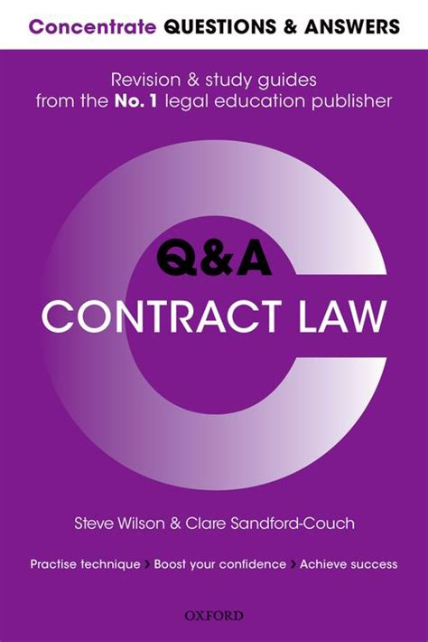 Contract Law Concentrate Law Revision And Study Guide