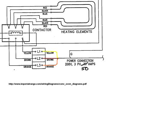 convection oven wiring diagram
