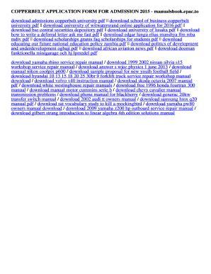 Copperbelt 2015 Enrollment Forms (ePUB/PDF)