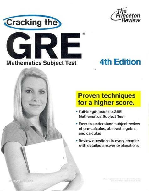 Cracking The GRE Mathematics Subject Test 4th Edition