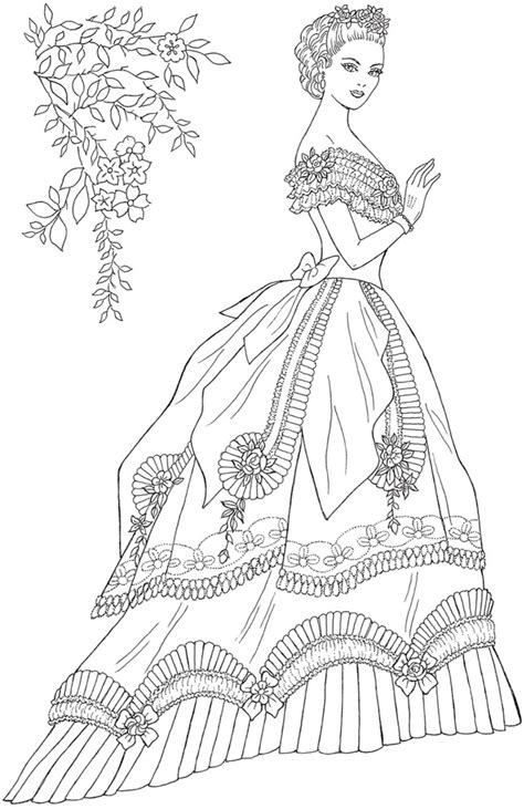 Creative Haven Victorian Gowns Coloring Book Creative Haven Coloring Books