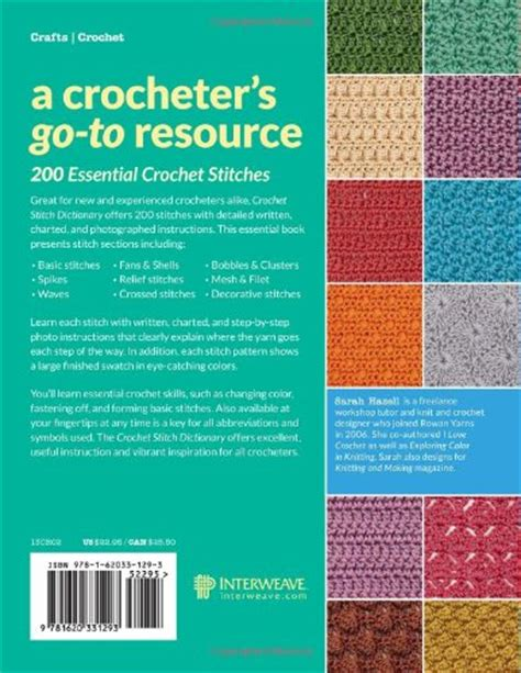 Crochet Stitch Dictionary 200 Essential Stitches With Stepbystep Photos