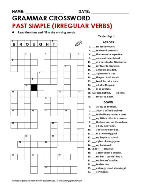 Crosswords For English Learners English Edition