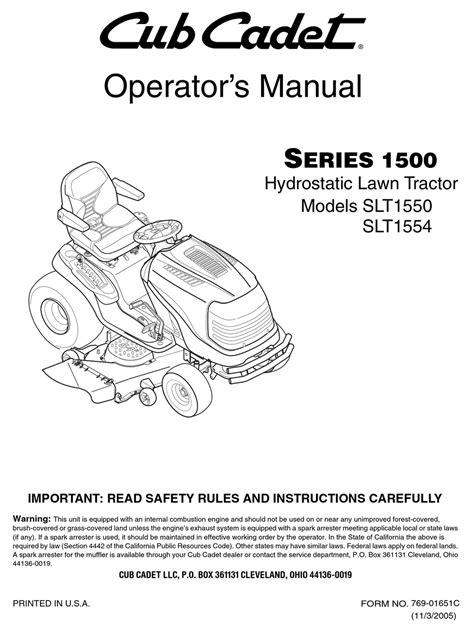 Cub Cadet Slt1554 Manual (ePUB/PDF)