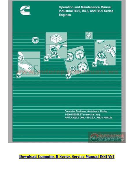 Cummins Operation Maintenance Manual B C Marine (ePUB/PDF)
