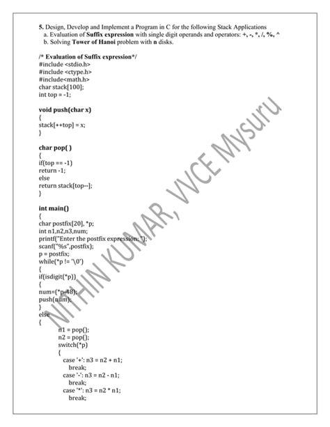 Data Structures Lab Manual Vtu Syllabus (ePUB/PDF)