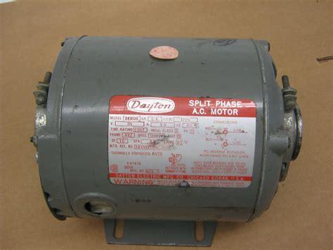 dayton split phase ac motor wiring diagram