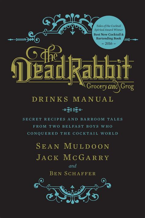 Dead Rabbit Drinks Manual The