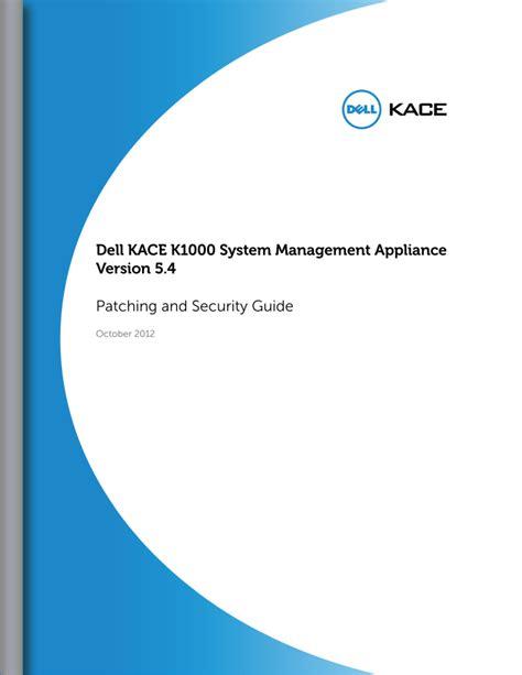 Dell Kace Manual (ePUB/PDF) Free