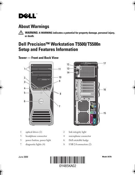 Dell T5500 Manual (ePUB/PDF) Free
