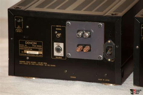 Denon Poa 6600 Power Amplifier Original Service Manual (ePUB/PDF)