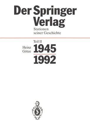 Der Springer Verlag Gtze Heinz (ePUB/PDF)
