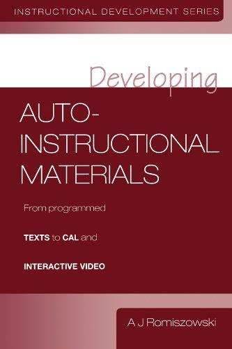 Developing Auto Instructional Materials Romiszowski A J (ePUB/PDF)