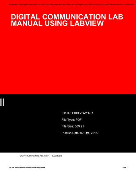 Digital Communication Lab Manual (ePUB/PDF)