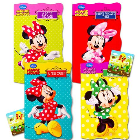 Disney Minnie Mouse My First Books Set of 4 Shaped