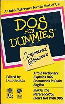 Dos For Dummies R Command Reference (ePUB/PDF)