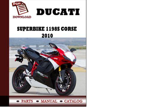 Ducati Superbike 1198s Parts Manual Catalogue 2010 Pdf English ...