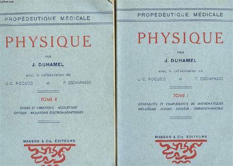 Brilliant Duhamel J Physique Tome 2 Ondes Et Vibrations Acoustique Optique Wiring Cloud Mangdienstapotheekhoekschewaardnl