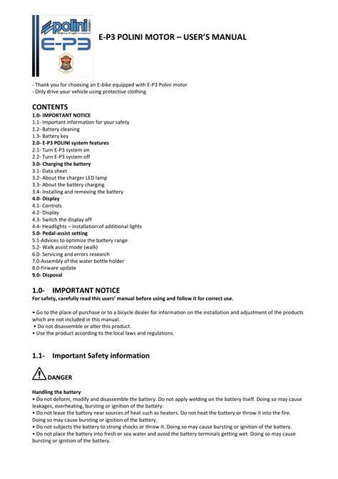 E P3 User Manual (ePUB/PDF) Free