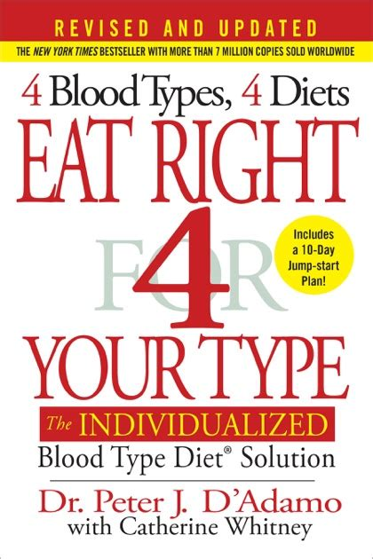 Eat Right 4 Your Type Revised And Updated The Individualized Blood Type Diet Solution