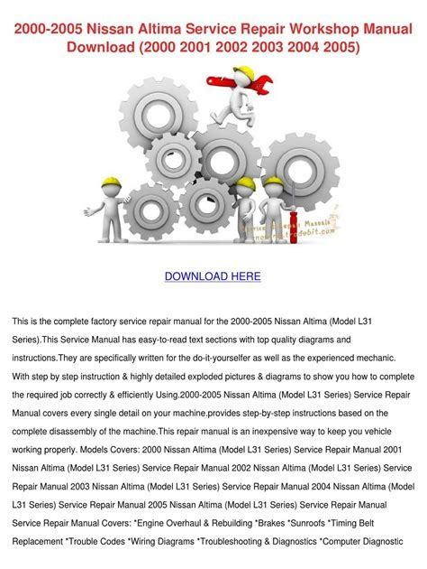Book] Ebook 2005 Nissan Altima Service Manual Torrent - dev.files ...