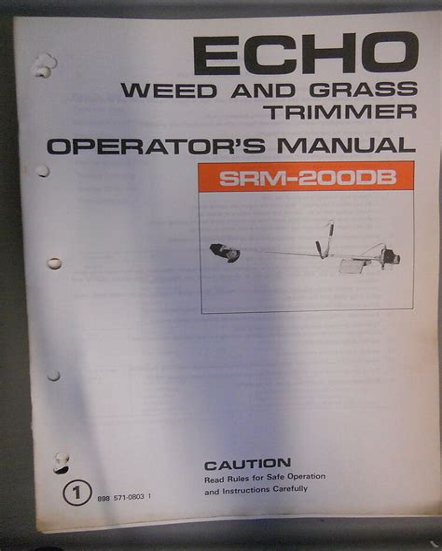 Echo Weed Eater Repair Manual (ePUB/PDF)