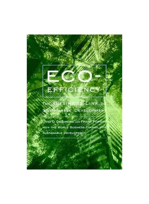 EcoEfficiency The Business Link To Sustainable Development