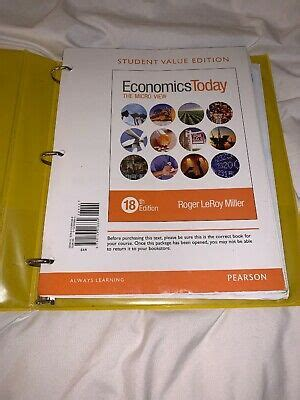 Economics Today The Micro View 18th Edition