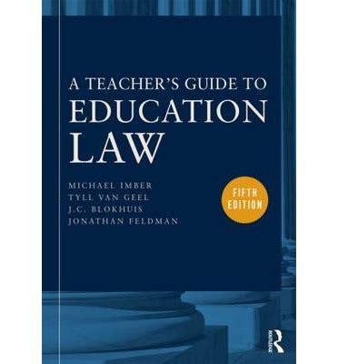 Education Law Feldman Jonathan Imber Michael Van Geel Tyll