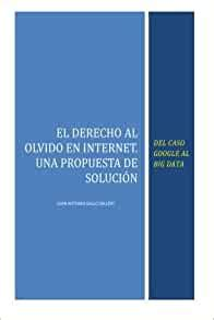 El Derecho Al Olvido En Internet Del Caso Google Al Big Data Spanish Edition