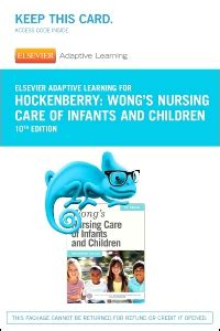 Elsevier Adaptive Learning For Wongs Nursing Care Of Infants And Children Access Code 10e