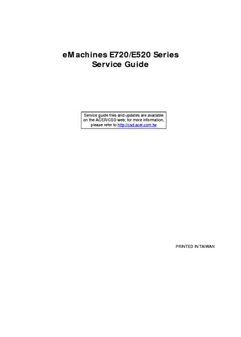 Emachines E520 Repair Manual (ePUB/PDF)