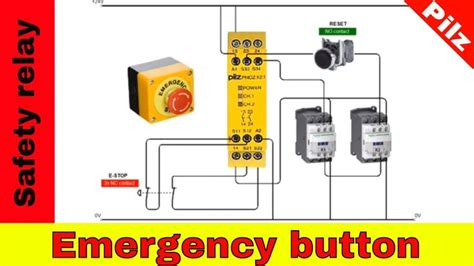 emergency stop relay wiring diagram double