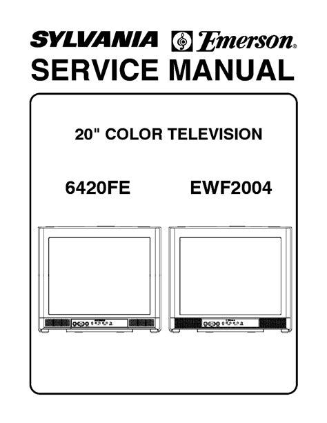 Emerson Ewf2004a Service Manual (ePUB/PDF)