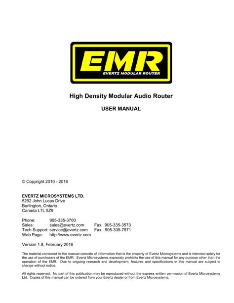 Emr User Manual (ePUB/PDF)