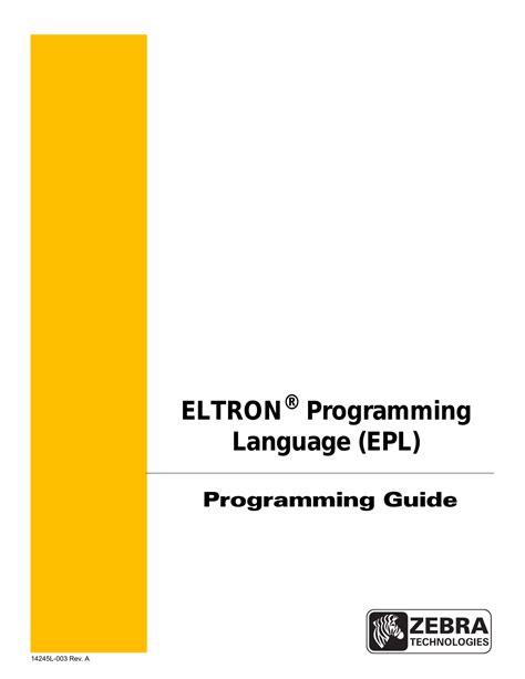 Epl2 Manual (ePUB/PDF) Free