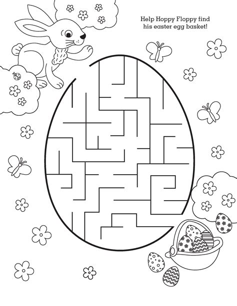 Esy Maze Coloring Pages Easter