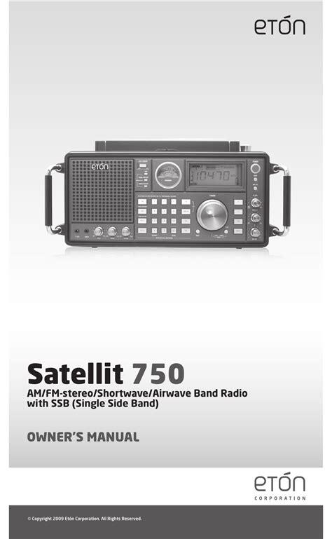 Eton 750 User Manual (ePUB/PDF)
