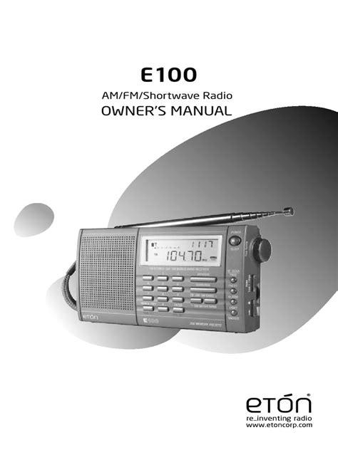 Eton E100 Manual (ePUB/PDF) Free