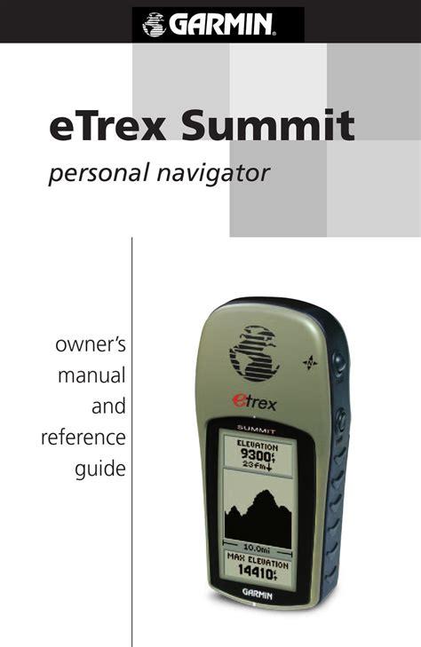Etrex Summit Manual (ePUB/PDF)