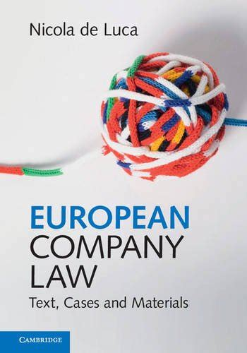 European Company Law Text Cases And Materials