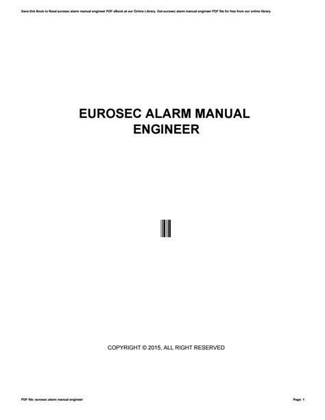 Eurosec Alarms Instruction Manual (ePUB/PDF) Free
