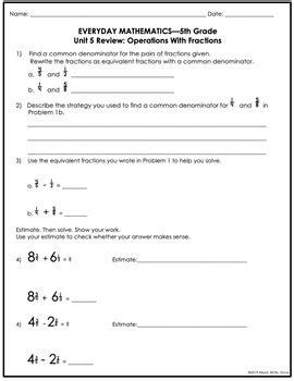 Everyday Math Grade 5 Unit 10 Review (ePUB/PDF) Free