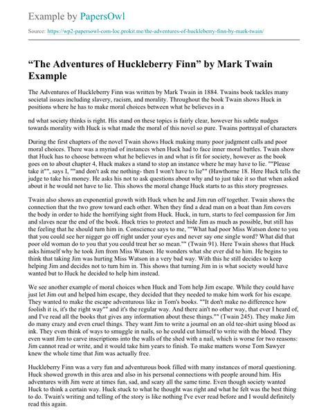 the adventures of huckleberry finn essay adventures of huckleberry  essay on huck finn atsl my ip meadventures of huck finn essay essay topicsexample essays adventures