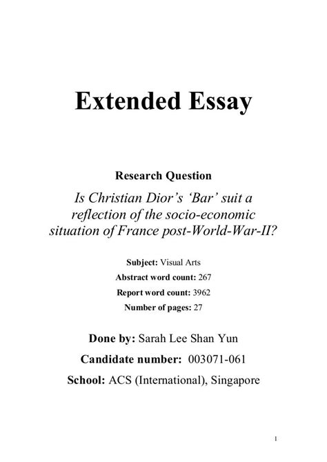 Persuasive Essay Examples High School  Environmental Science Essay also Examples Of Thesis Statements For Persuasive Essays Essay Writing   Department Of Political Science Ib English  Essay On High School Experience